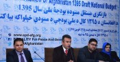 EPD launches the Independent Review of Afghanistan 1395 National Budget Draft